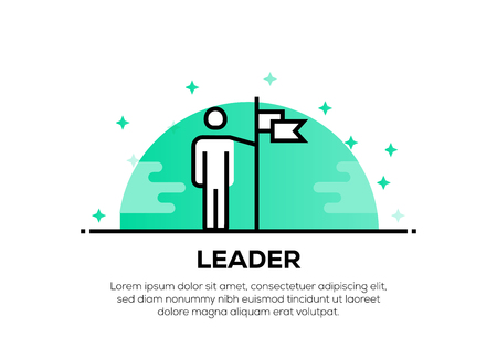 LEADER ICON CONCEPT Vettoriali