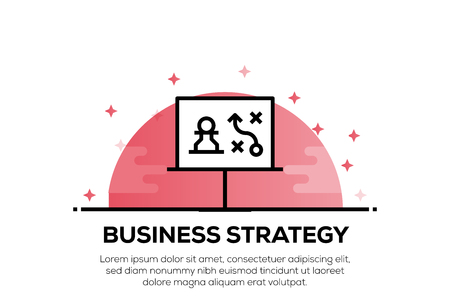 BUSINESS STRATEGY ICON CONCEPT