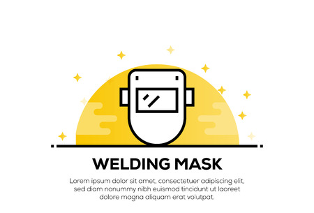 WELDING MASK ICON CONCEPT