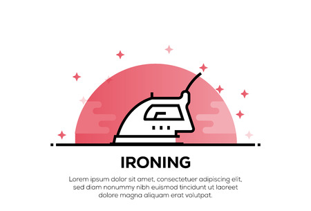 IRONING BOARD ICON CONCEPT