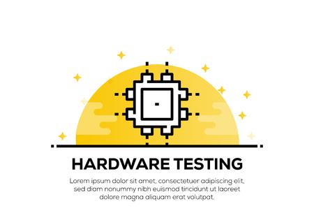 HARDWARE TESTING ICON CONCEPT