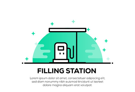 FILLING STATION ICON CONCEPT