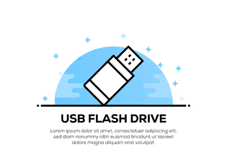 USB FLASH DRIVE ICON CONCEPT