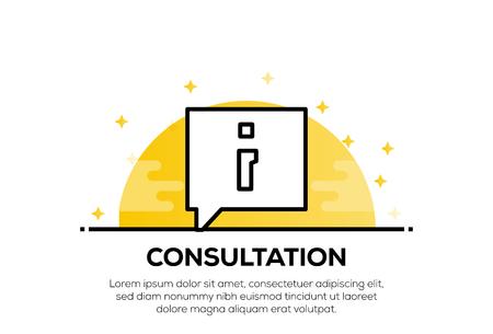 CONSULTATION ICON CONCEPT
