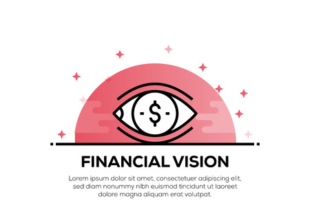 FINANCIAL VISION ICON CONCEPT Ilustracja