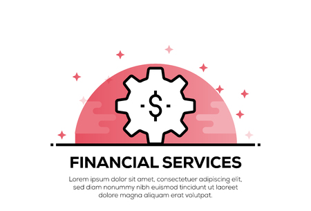 FINANCIAL SERVICES ICON CONCEPT