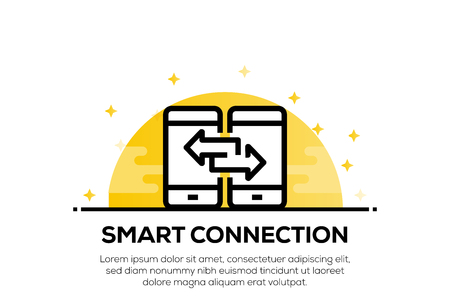 SMART CONNECTION ICON CONCEPT