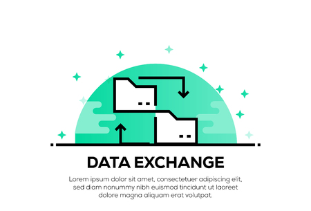 DATA EXCHANGE ICON CONCEPT