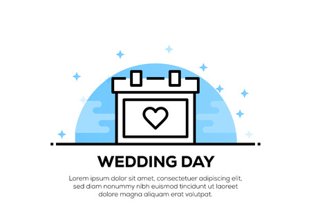 WEDDING DAY ICON CONCEPT Иллюстрация