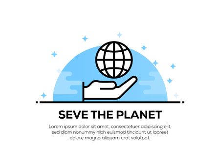 SAVE THE PLANET ICON CONCEPT