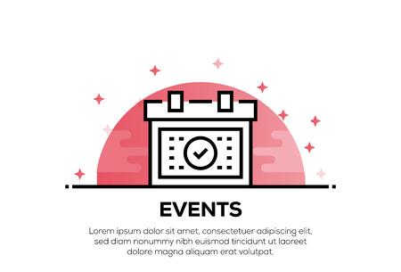 EVENTS ICON CONCEPT