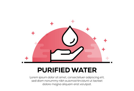PURIFIED WATER ICON CONCEPT