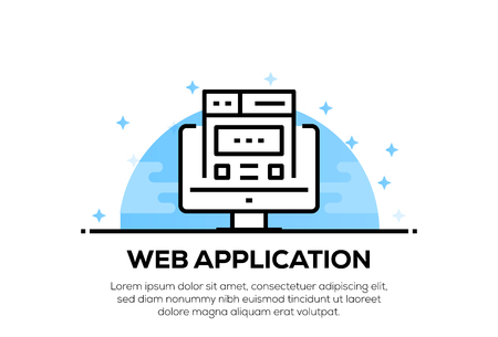 WEB APPLICATION ICON CONCEPT 向量圖像