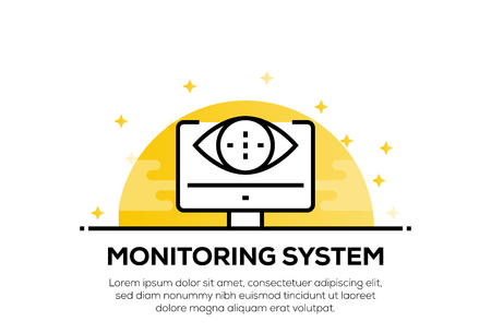 MONITORING SYSTEM ICON CONCEPT