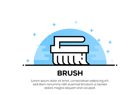 BRUSH ICON CONCEPT Illustration