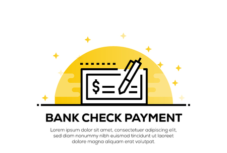 BANK CHECK PAYMENT ICON CONCEPT
