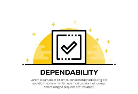 DEPENDABILITY ICON CONCEPT Ilustração