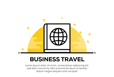BUSINESS TRAVEL ICON CONCEPT Vettoriali