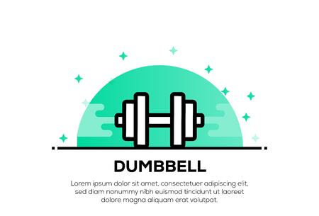 DUMBBELL ICON CONCEPT