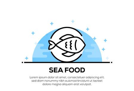 SEA FOOD ICON CONCEPT