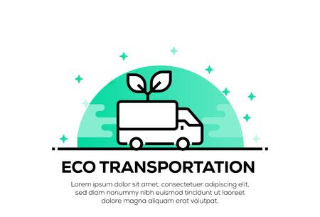 ECO TRANSPORTATION ICON CONCEPT Illustration