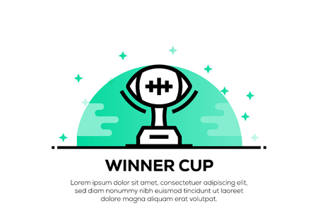 WINNER CUP ICON CONCEPT Illustration