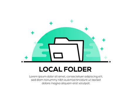 LOCAL FOLDER ICON CONCEPT Illustration
