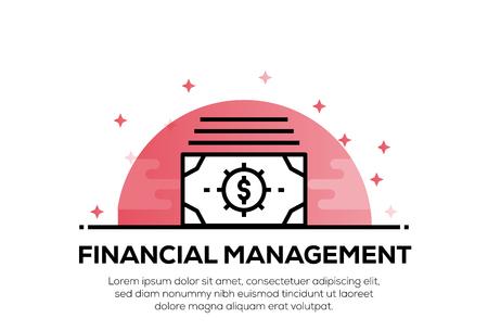 FINANCIAL MANAGEMENT ICON CONCEPT Ilustração