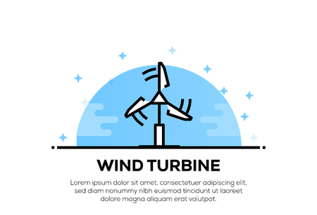 WIND TURBINE ICON CONCEPT Stock Illustratie