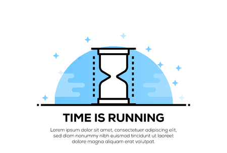 TIME IS RUNNING ICON CONCEPT