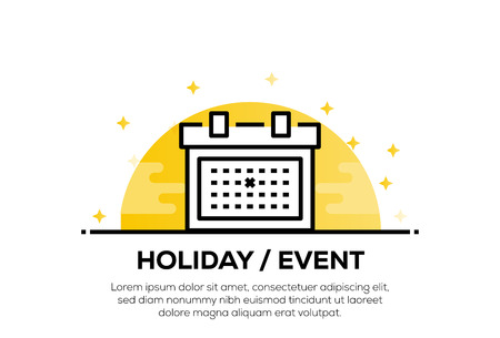 HOLIDAY&EVENT ICON CONCEPT