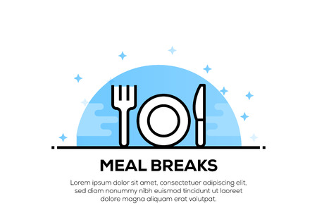 MEAL BREAKS ICON CONCEPT  イラスト・ベクター素材