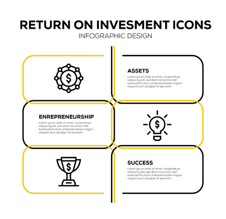 RETURN ON INVESTMENT ICON SET