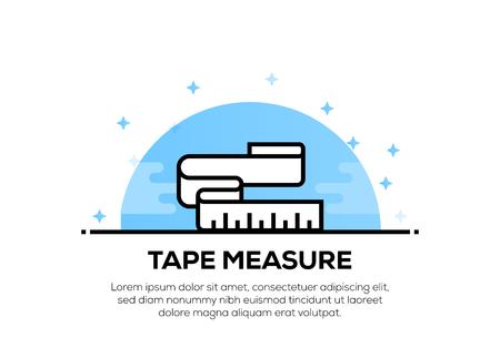 TAPE MEASURE ICON CONCEPT
