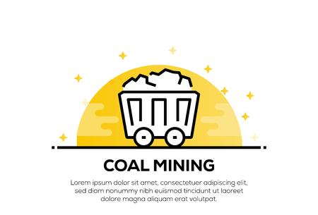 COAL MINING ICON CONCEPT Ilustração