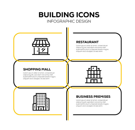 BUILDING ICON SET 矢量图像