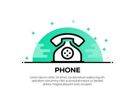 PHONE ICON CONCEPT Illustration