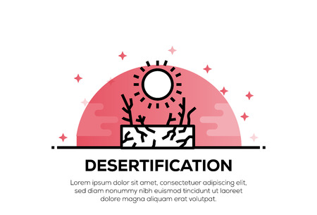 DESERTIFICATION ICON CONCEPT