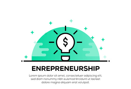 ENREPRENEURSHIP ICON CONCEPT Illustration