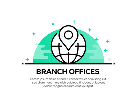 BRANCH OFFICES ICON CONCEPT