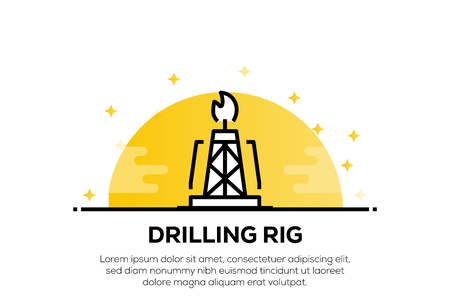 DRILLING RIG ICON CONCEPT