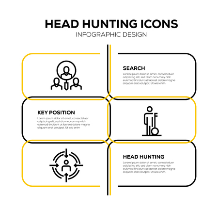 HEAD HUNTING ICON SET