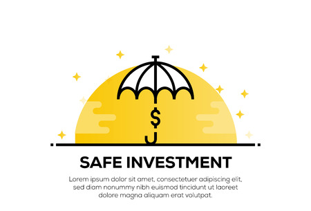 SAFE INVESTMENT ICON CONCEPT