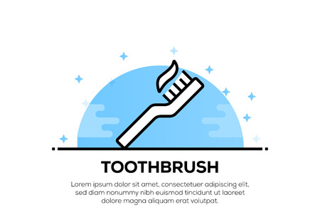TOOTHBRUSH ICON CONCEPT