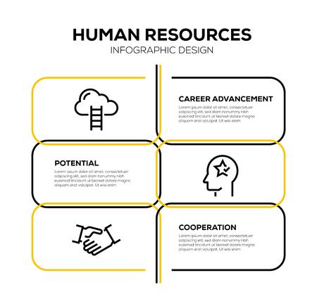 HUMAN RESOURCES ICON SET Vektorgrafik