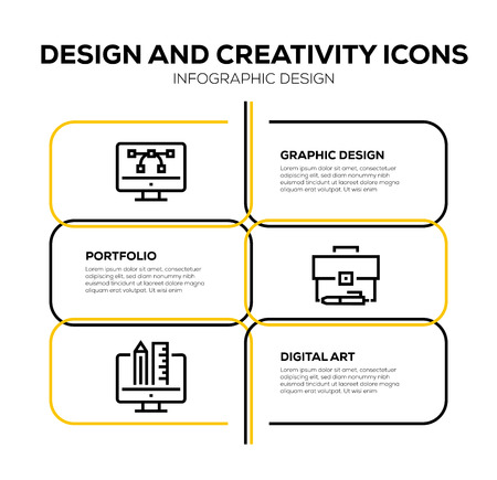 DESIGN AND CREATIVITY ICON SET Banque d'images - 122098493