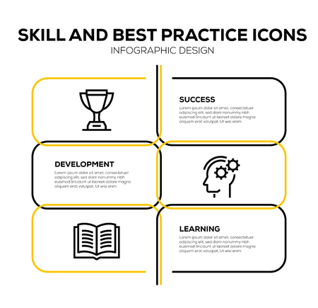 SKILL AND BEST PRACTICE ICON SET Vettoriali