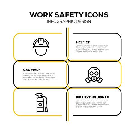 WORK SAFETY ICON SET