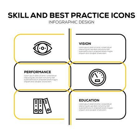 SKILL AND BEST PRACTICE ICON SET Illustration