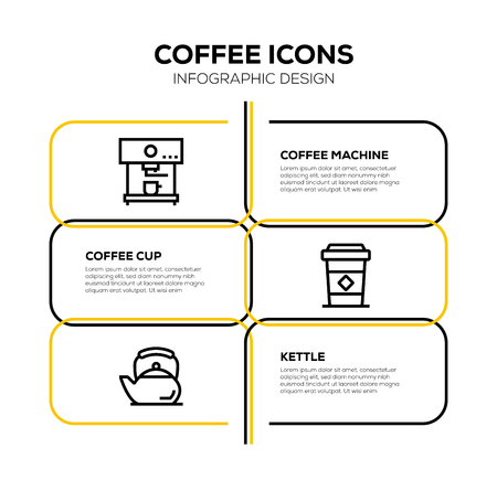 COFFEE ICON SET Vettoriali